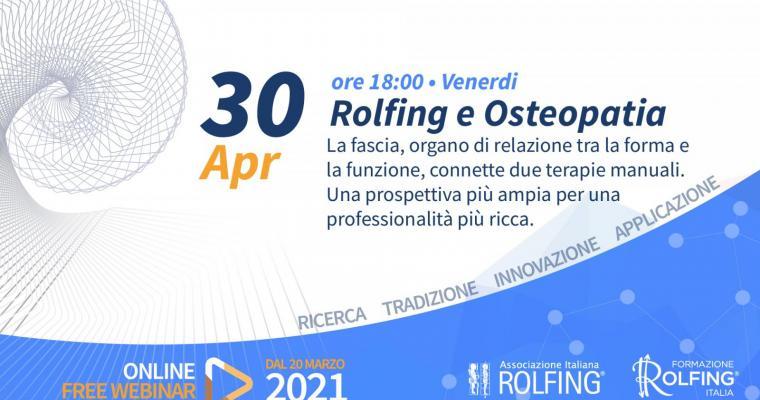Rolfing e Osteopatia-La Fascia, organo di relazione tra la forma e la funzione, connette due terapie manuali. Una prospettiva più ampia per una professionalità più ricca.