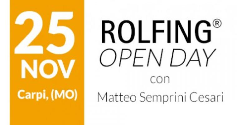 Open Day di Rolfing - 25 Novembre a Carpi