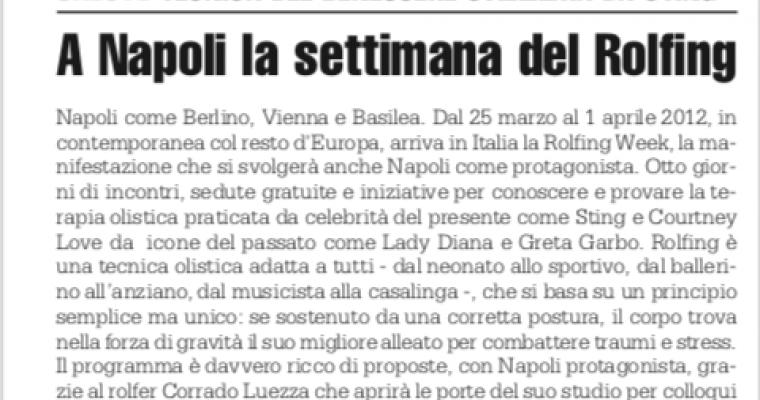 A Napoli la settimana del Rolfing