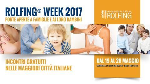 ROLFING WEEK - 8^ EDIZIONE dal 19 al 26 maggio 2017